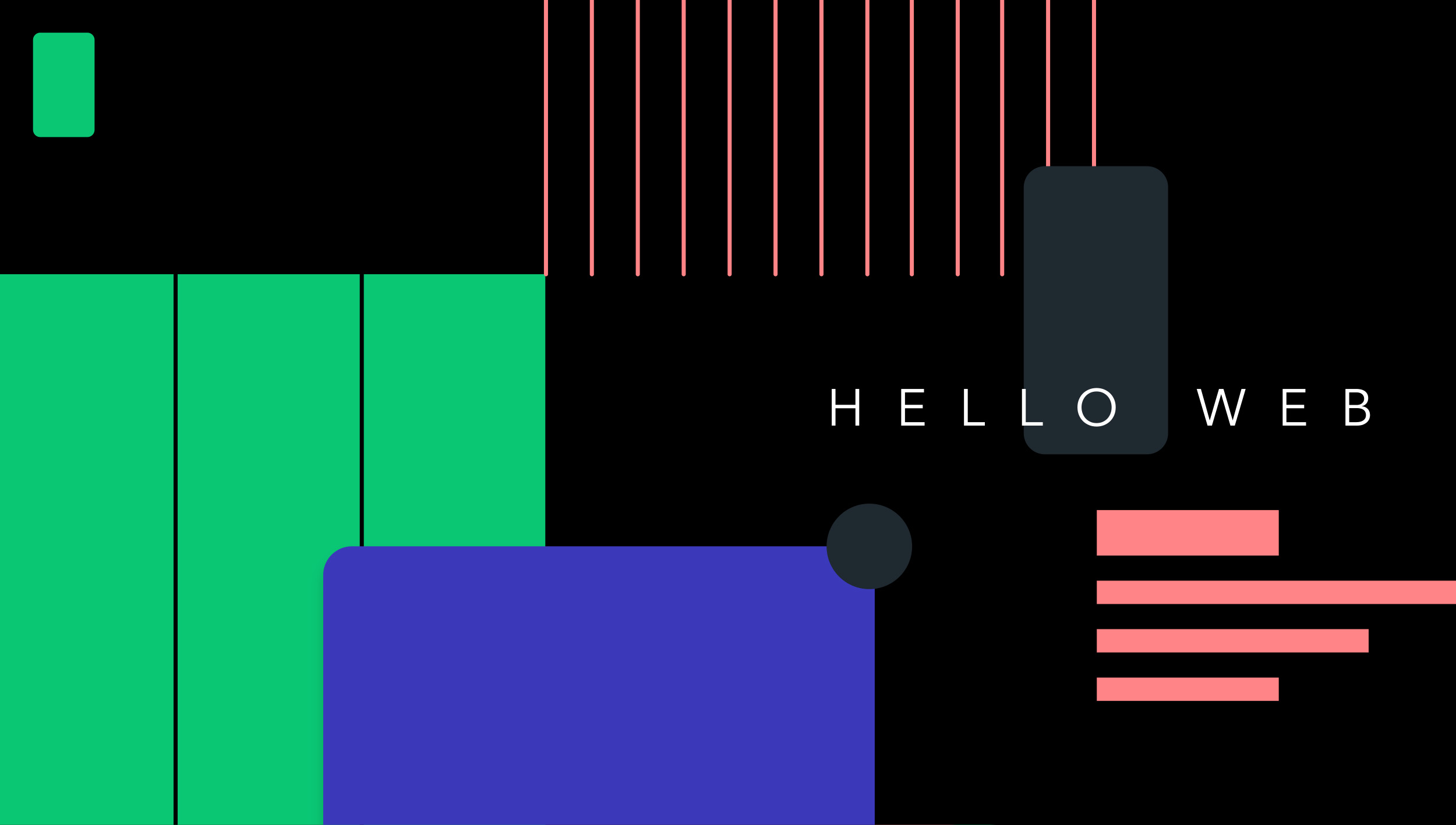 A brief history of web design for designers. Explained with animations