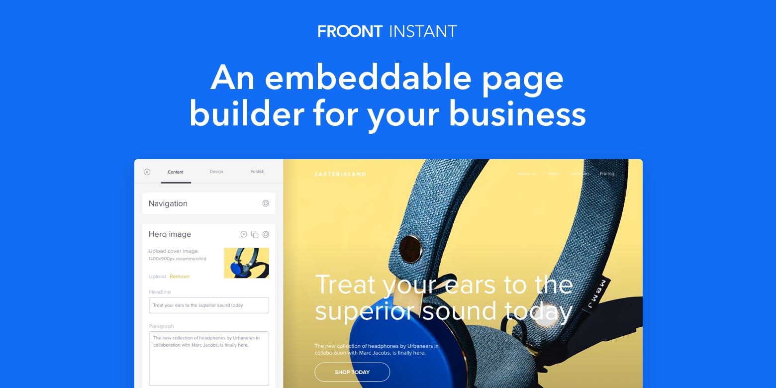 Froont Instant Page Builder