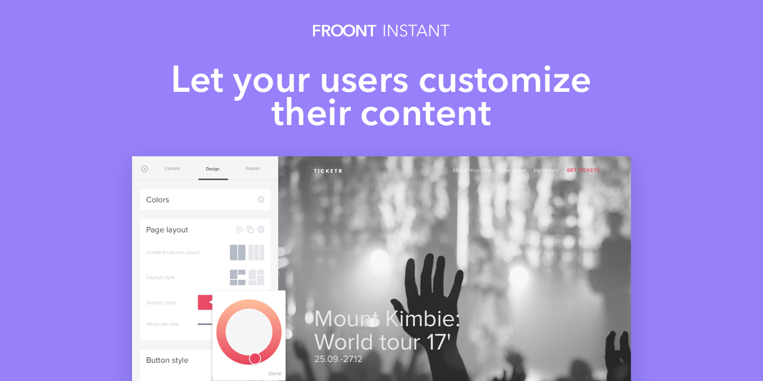 Froont Instant Page Customizer